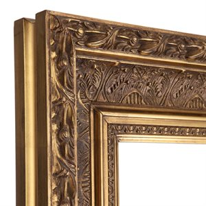 Hampton 20 x 30 bevelled mirror gold for Mirror 20 x 30