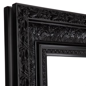 "Hampton - 20"" x 24"" Bevelled Mirror -  Black"